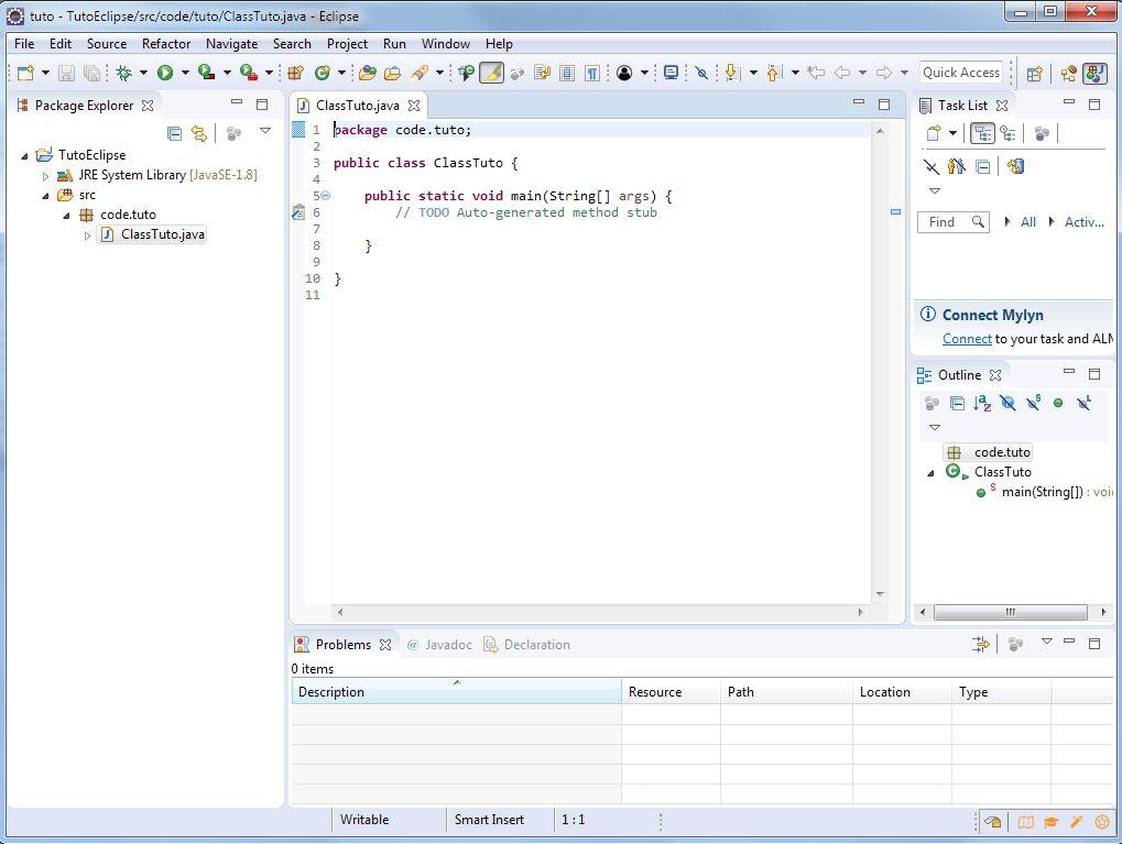 Eclipse nouvelle classe - Premier programme Java - miaffo.net - Tutoriels ESB