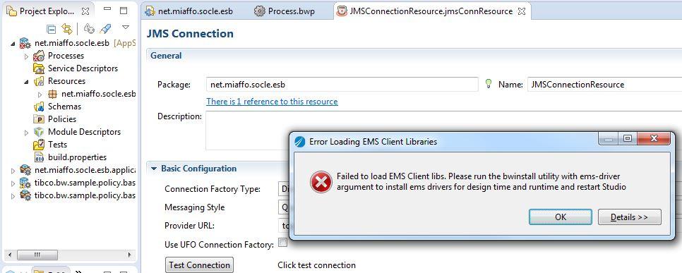 miaffo.net - Tutoriels ESB - TIBCO BW6 - Erreur EMS