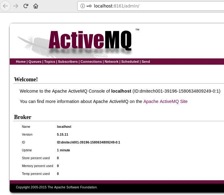 Apache ActiveMQ Web console