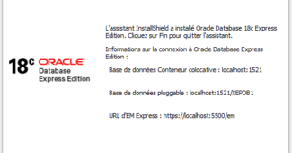 Installer Oracle database