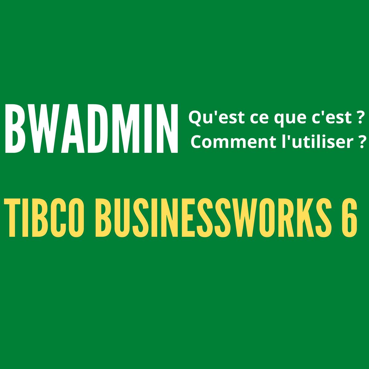 TIBCO BWAdmin, deploy application